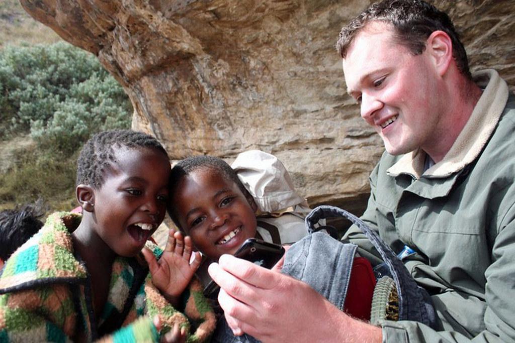 lokale børn i Lesotho