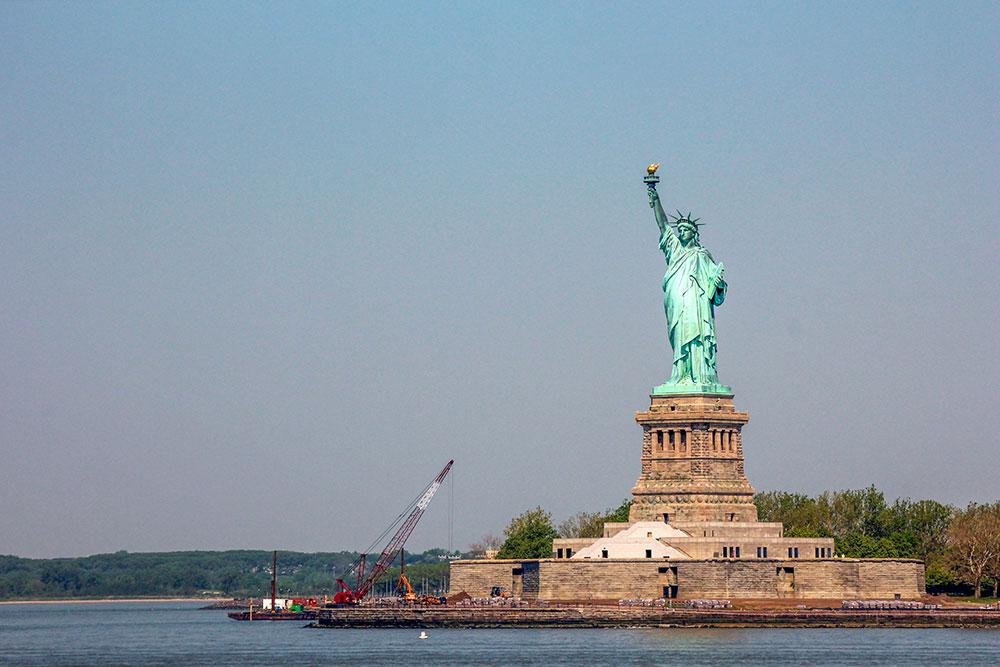 frihedsgudinden, den mest berømte seværdighed i new york city
