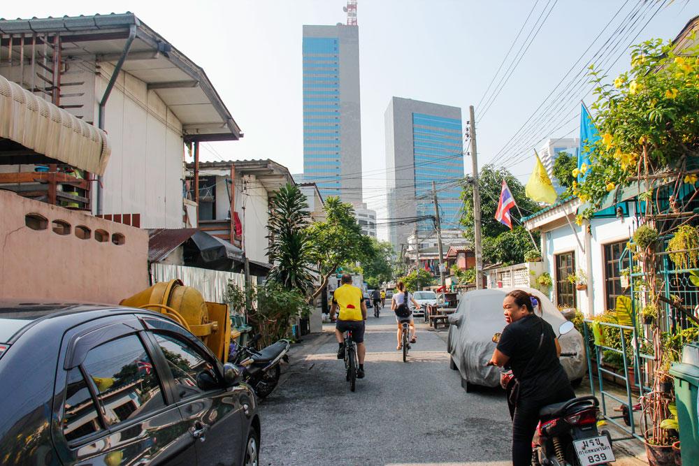 cykling i Bangkok