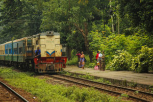 The circular train, Yangon