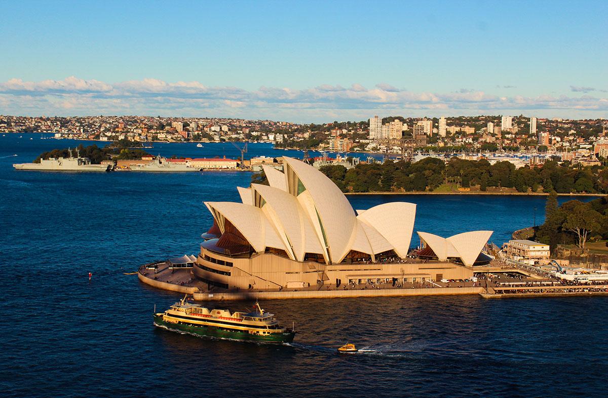 Udsigten fra Pylon Lookout, Sydney