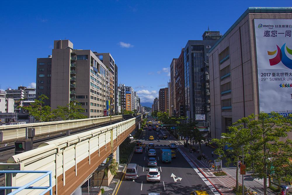 Udsigten fra metrostationen i Taipei
