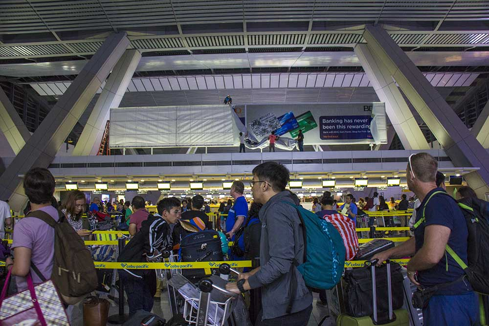 at flyve fra Manila lufthavn