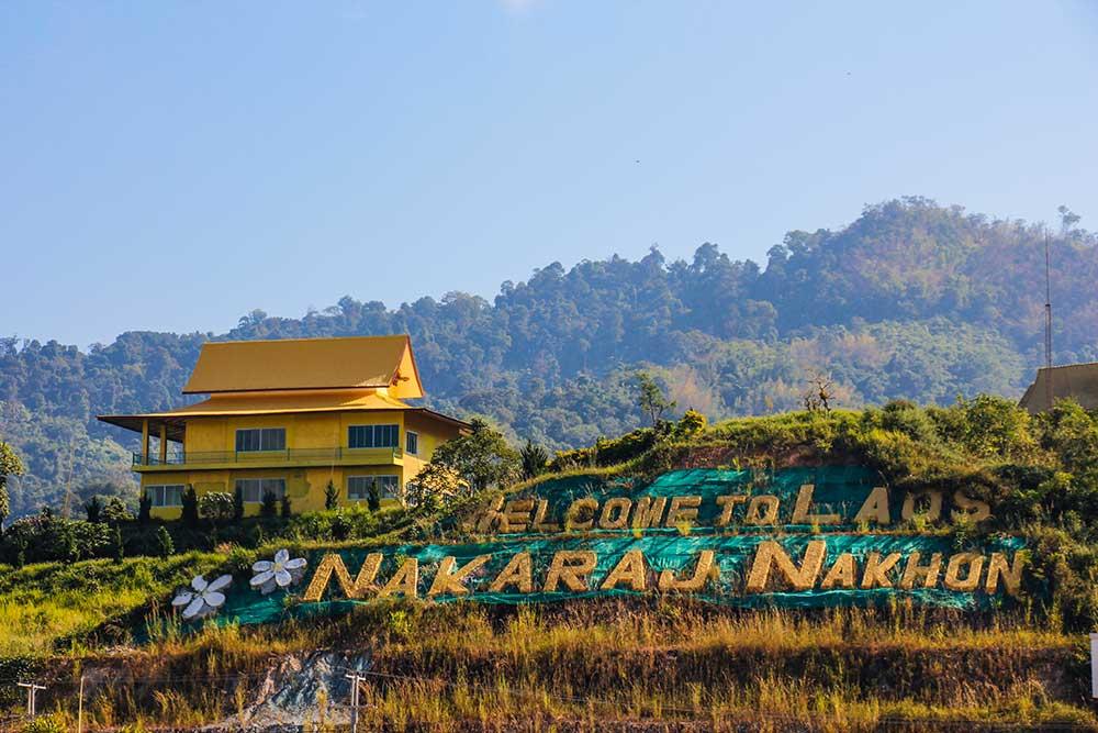 grænsen til Laos