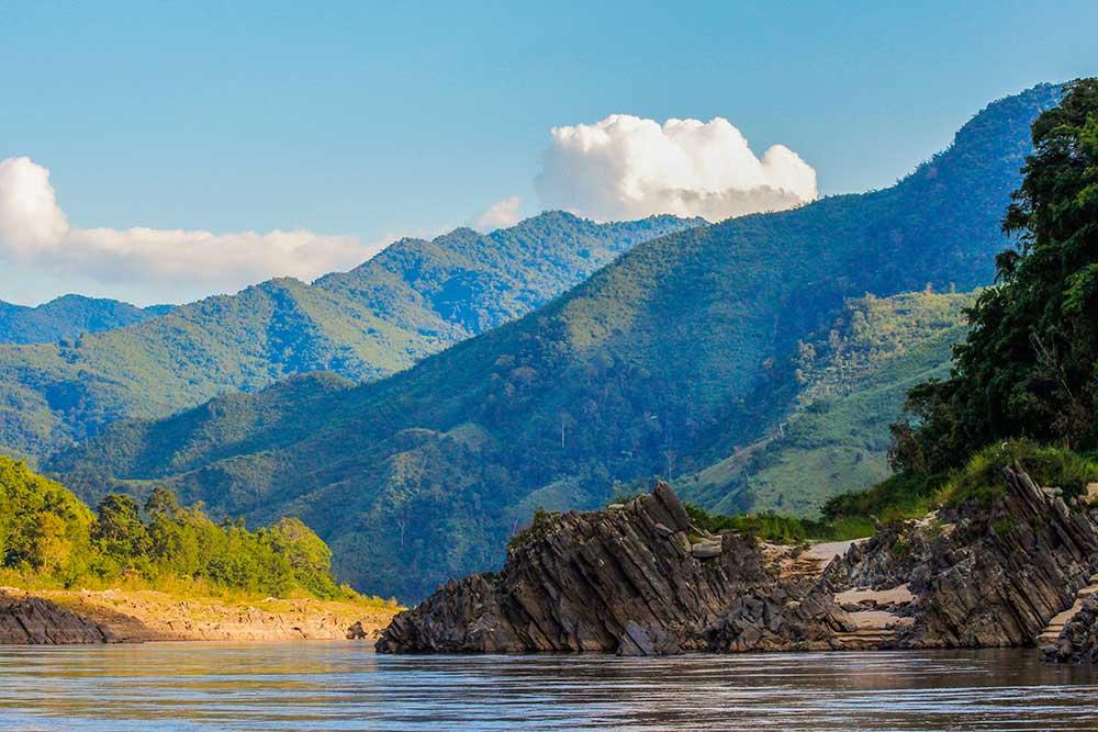 smukke landskaber i Laos