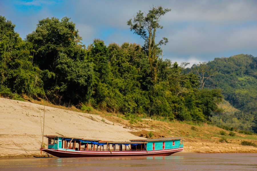 Mekong floden i Laos
