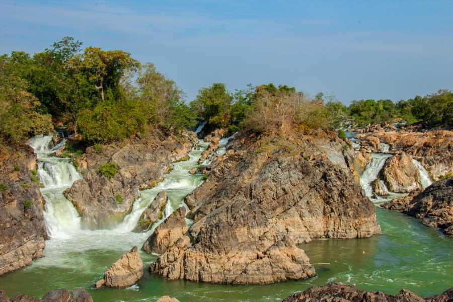 kort over Laos