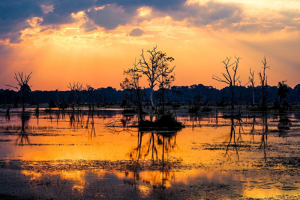 solnedgang i siem reap