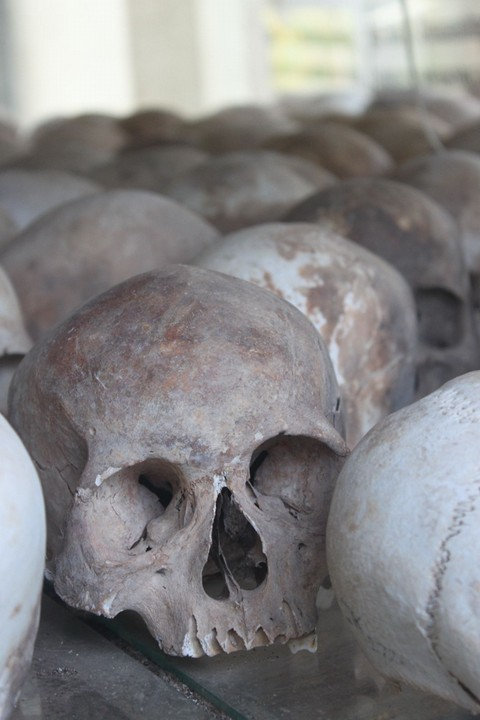 skelethoveder ved Killing Fields, Cambodia