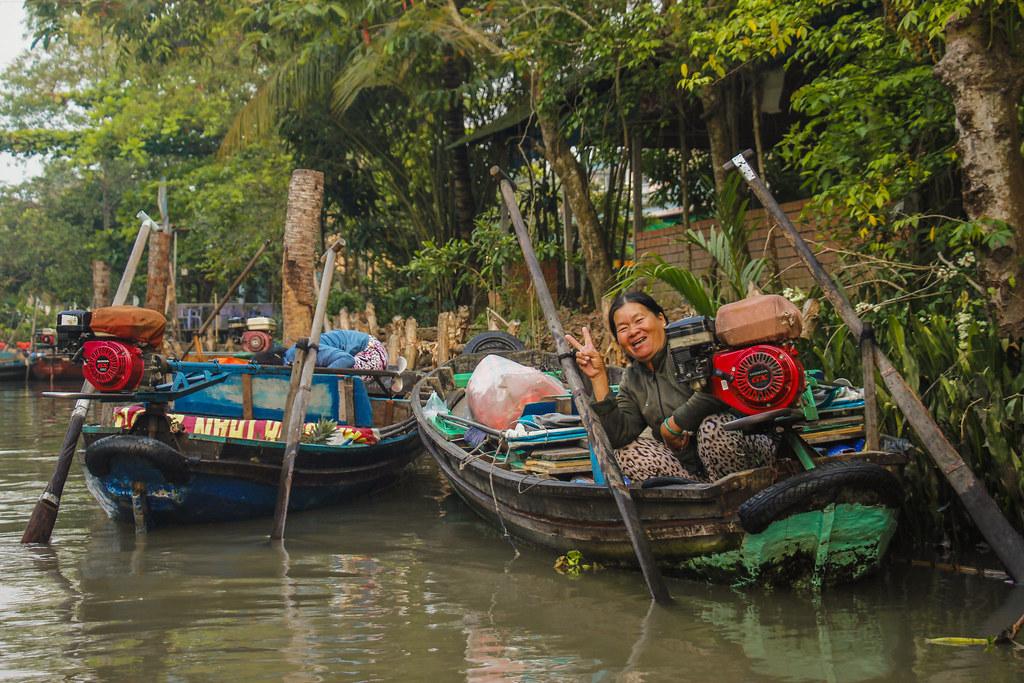 vietnameser på mekongfloden