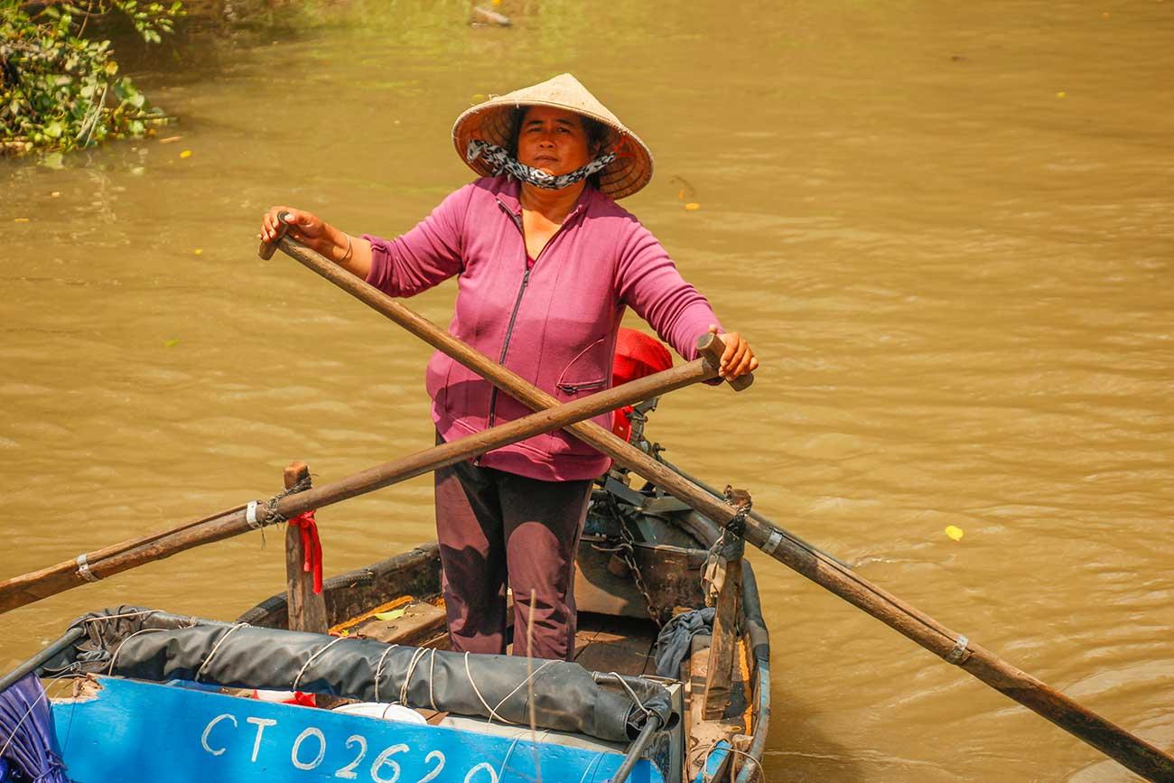 guide på de flydende markeder i vietnam