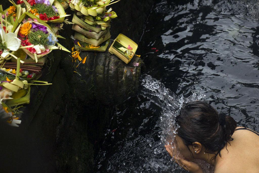 hellige kilder, Ubud, Bali