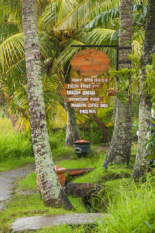 spisesteder, Ubud, Bali