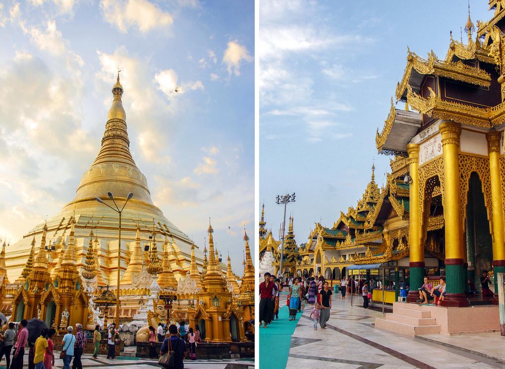 livet ved Shwedagon Pagoden i Yangon