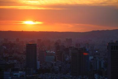 Solnedgang i Taipei, Taiwan