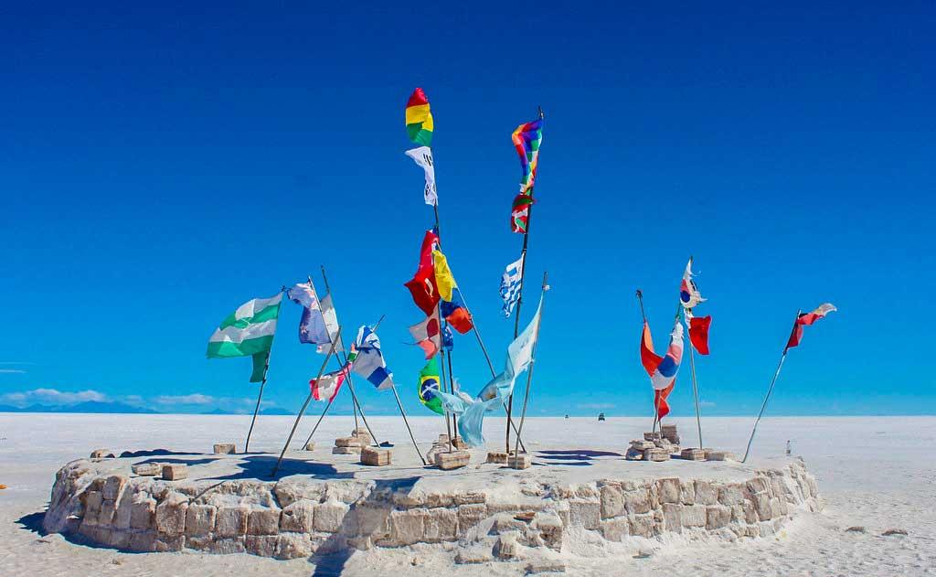flag i Salar de Uyuni