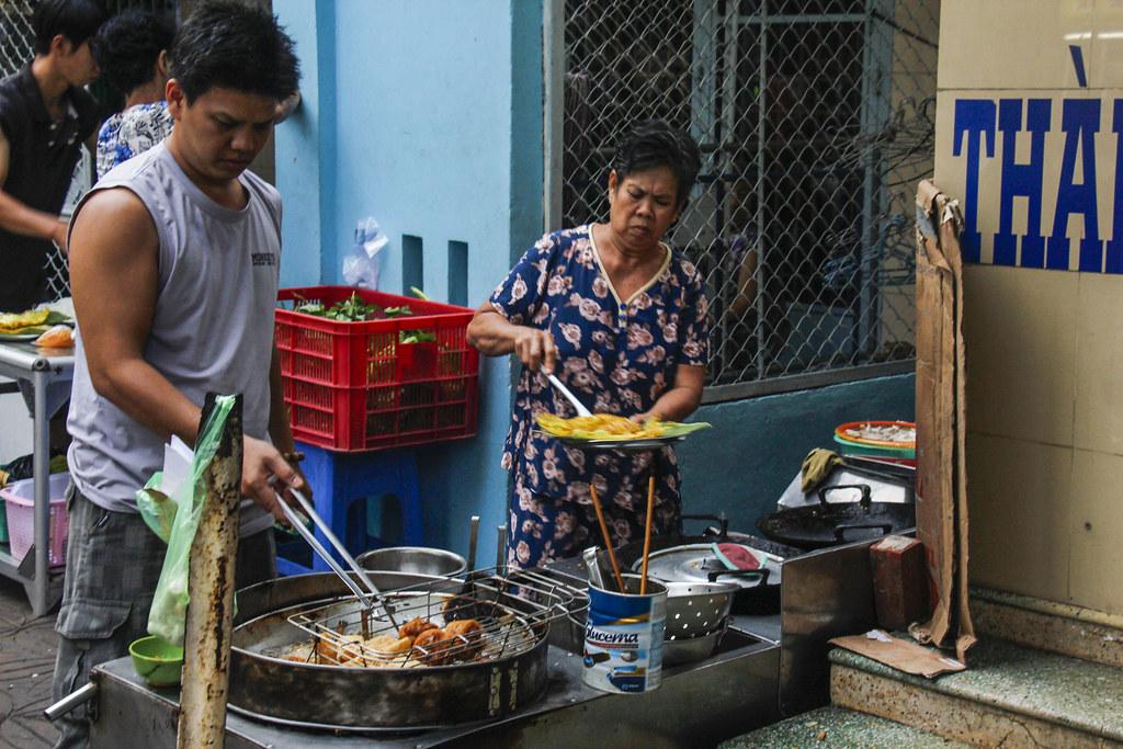 Bánh Xèo - vietnamesiske pandekager