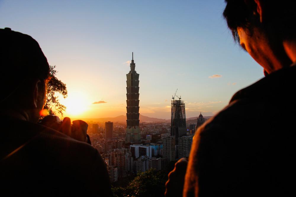Taipei 101 fra Elephant Mountain