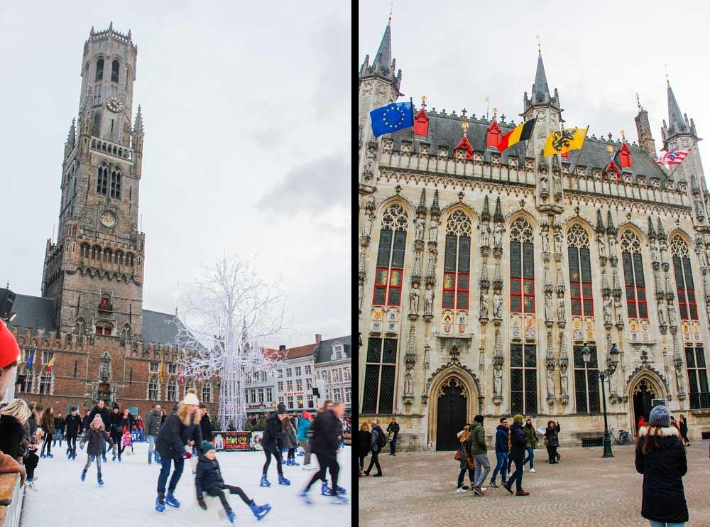 vinter i brugge, belgien
