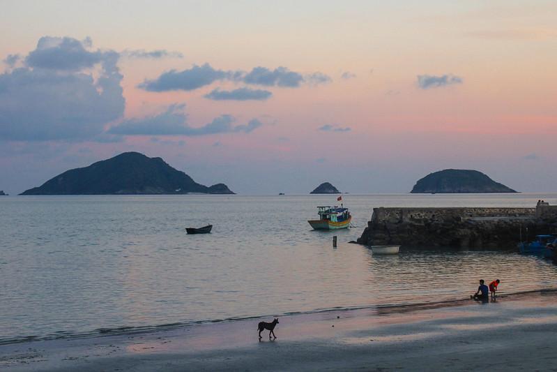 solnedgang på Con Dao Islands