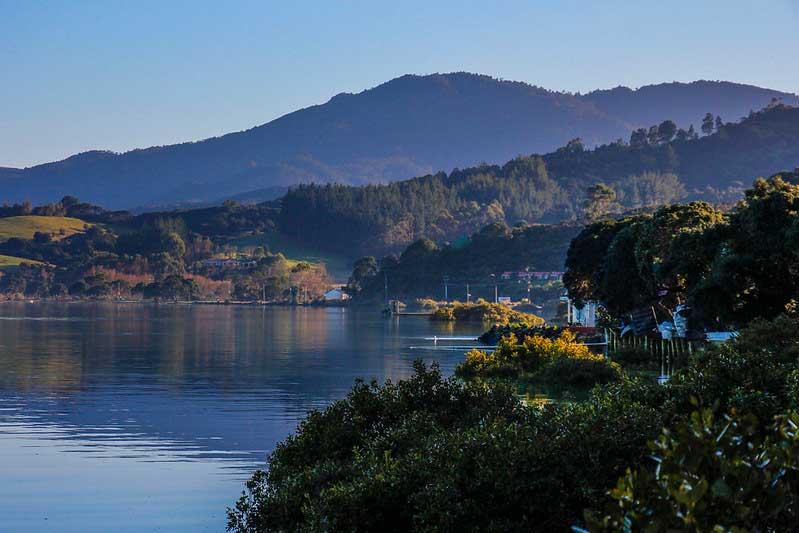 smukke omgivelser på coromandelhalvøen