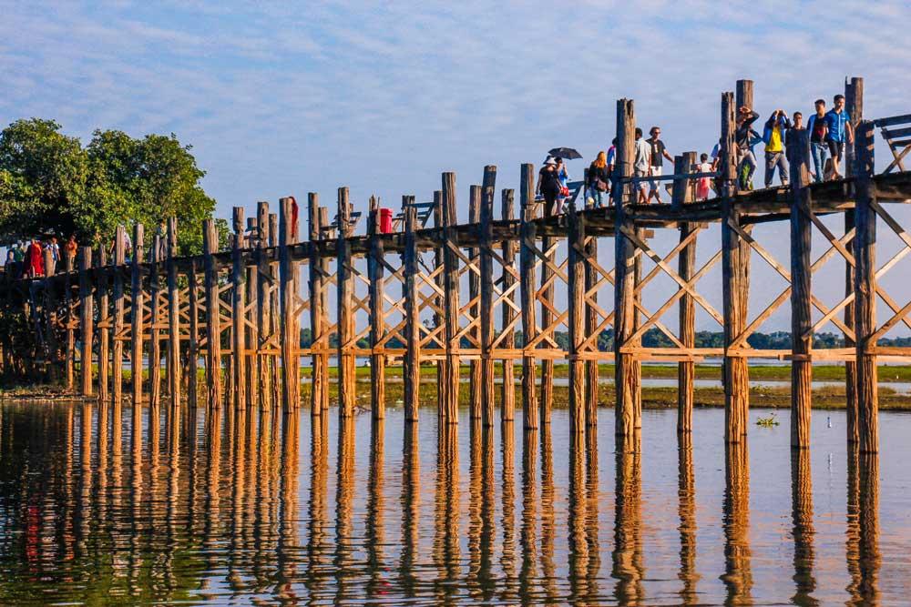 Solnedgang ved U Bein Bridge