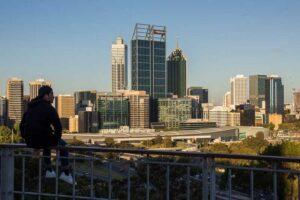 udsigten fra King's Park i Perth