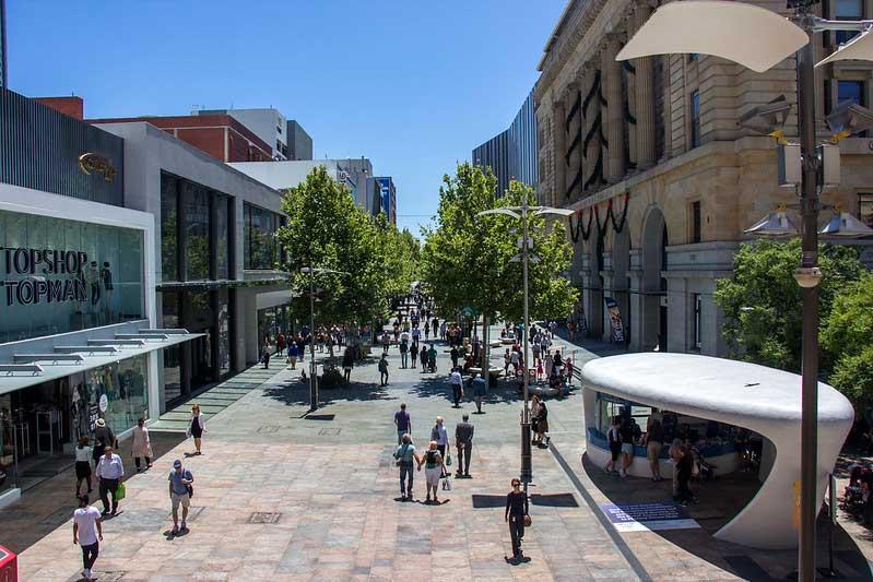 gågade i Perth