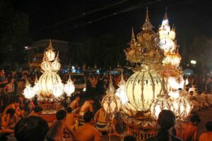 lysfestival i Chiang Mai, Thailand