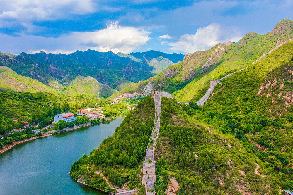 den kinesiske mur udenfor Beijing