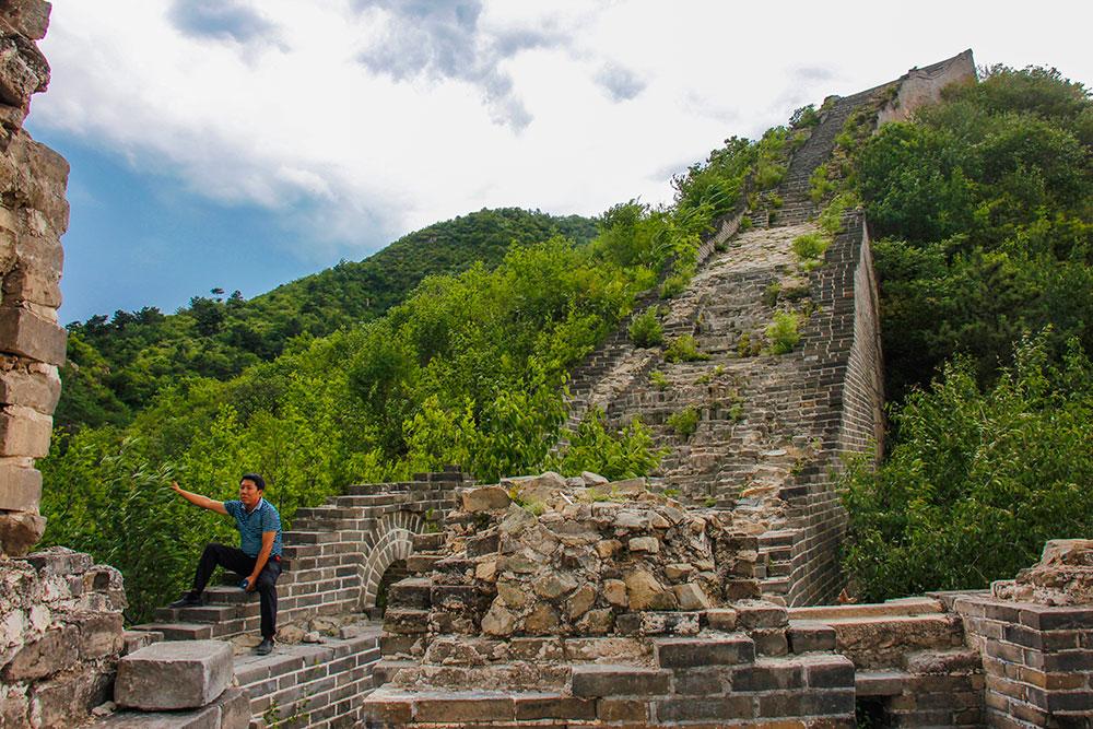 En uberørt del af den kinesiske mur