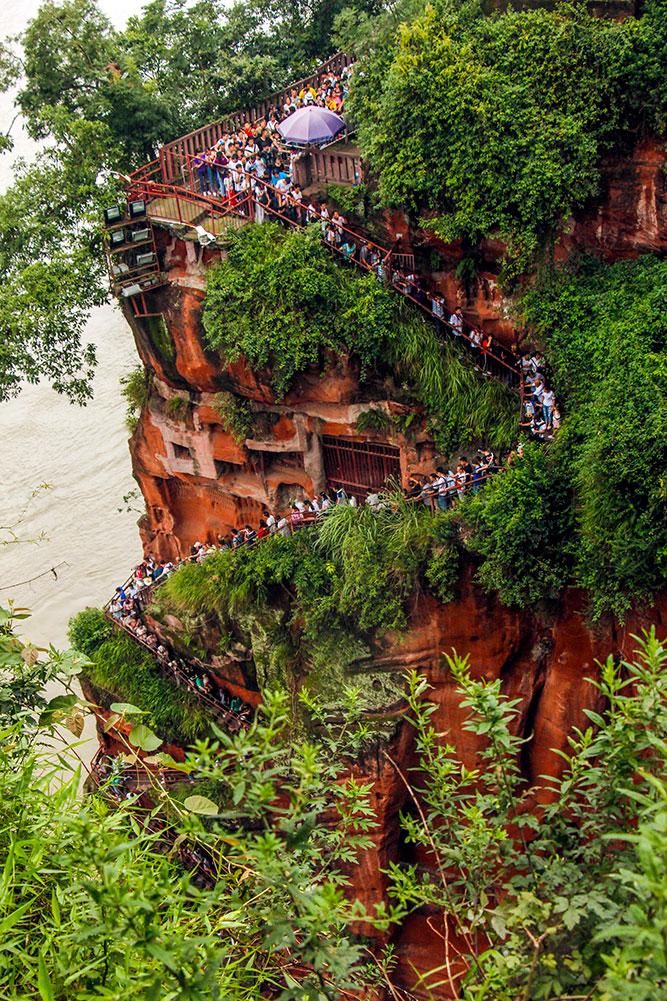 køen ved Leshan buddhaen