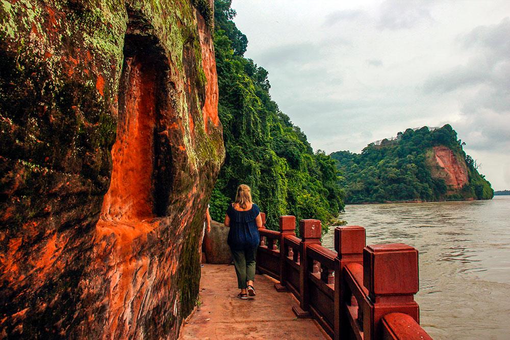 floden ved Leshan buddhaen