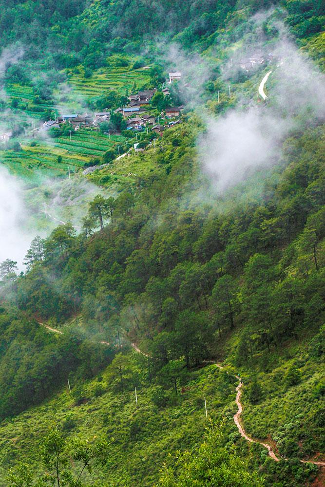 bjerglandsbyer i Yunnan-provincen