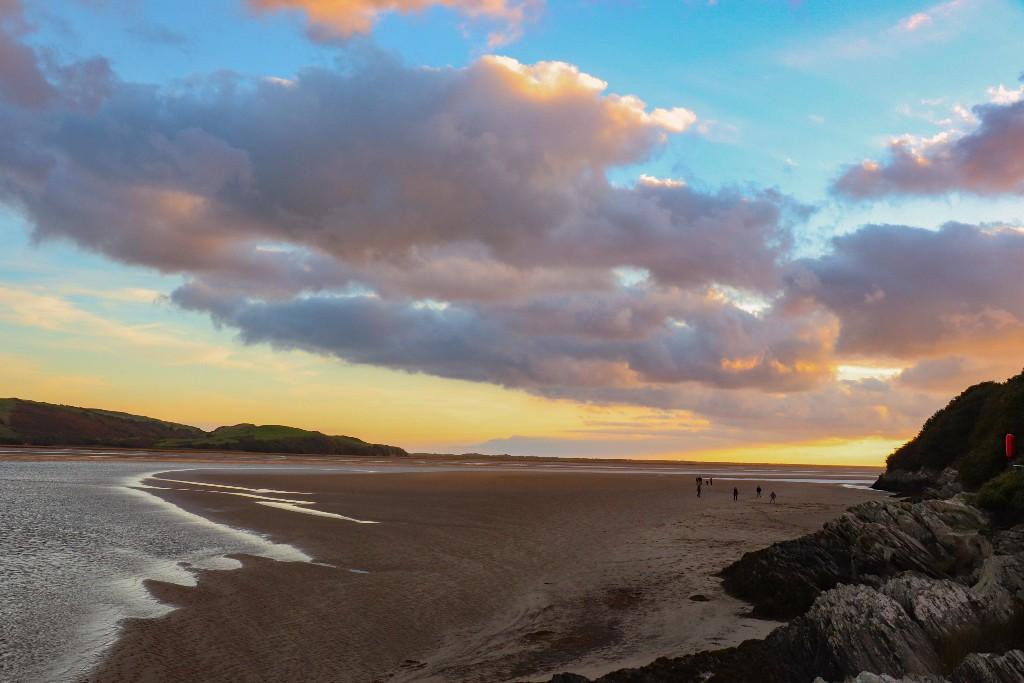 solnedgang i Wales