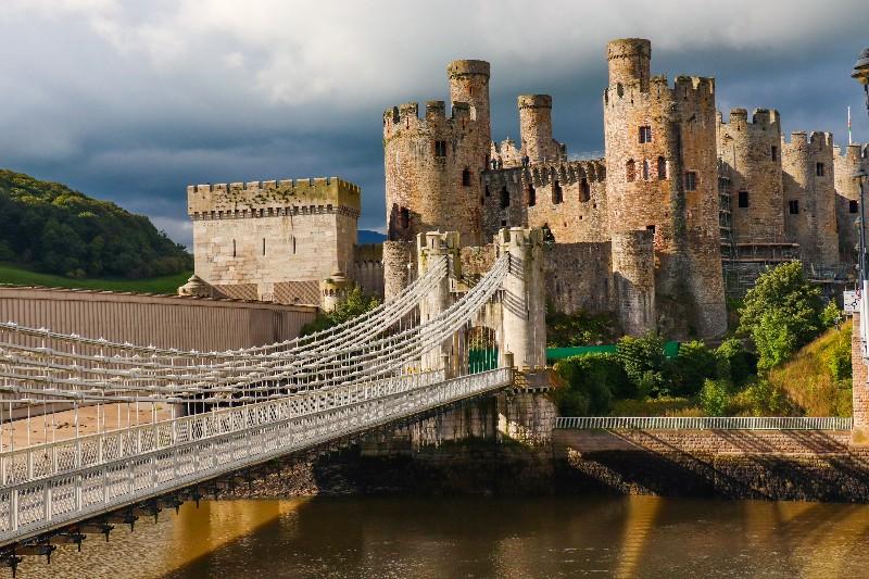 slotte i Wales