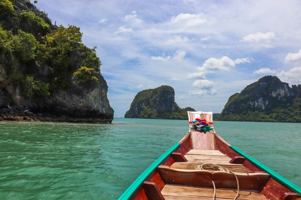 bådtur, thailand