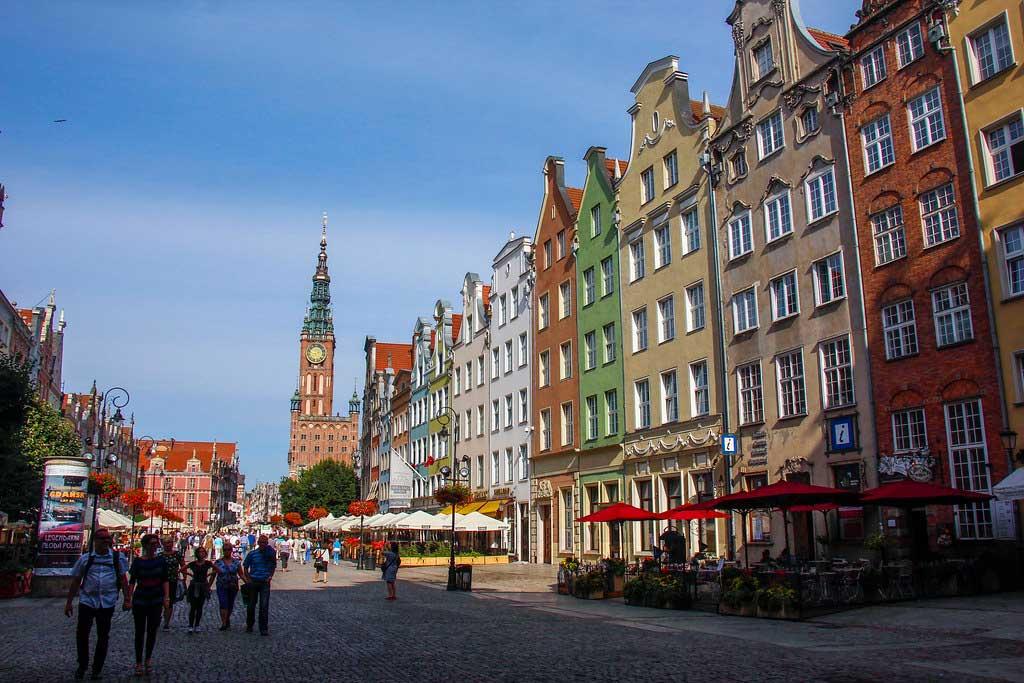 den gamle bydel i Gdansk