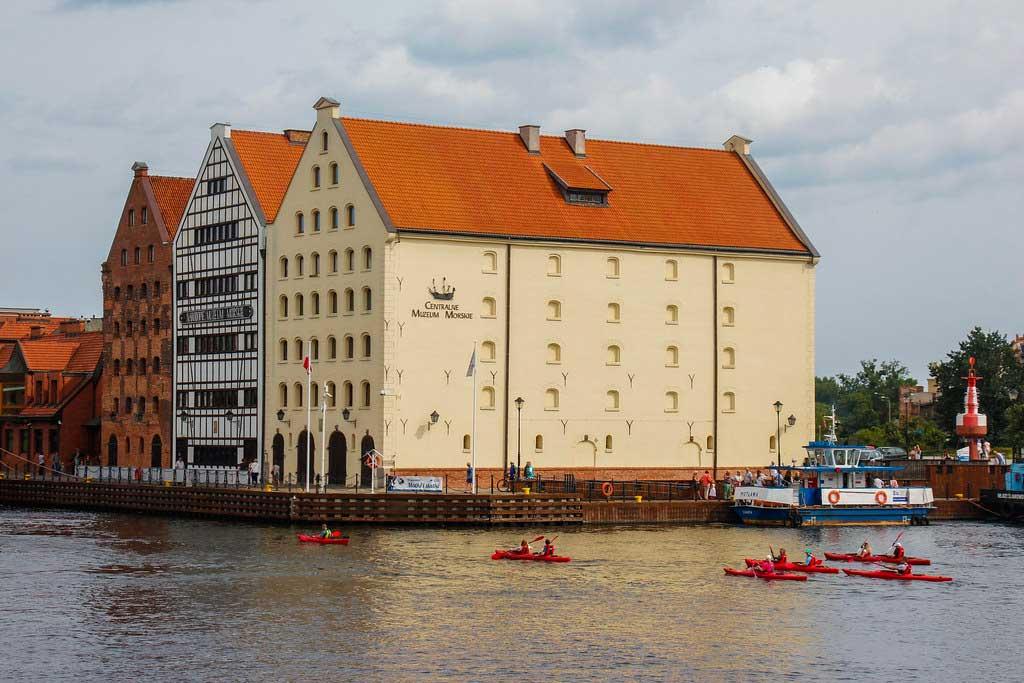 Motlawa-floden i Gdansk