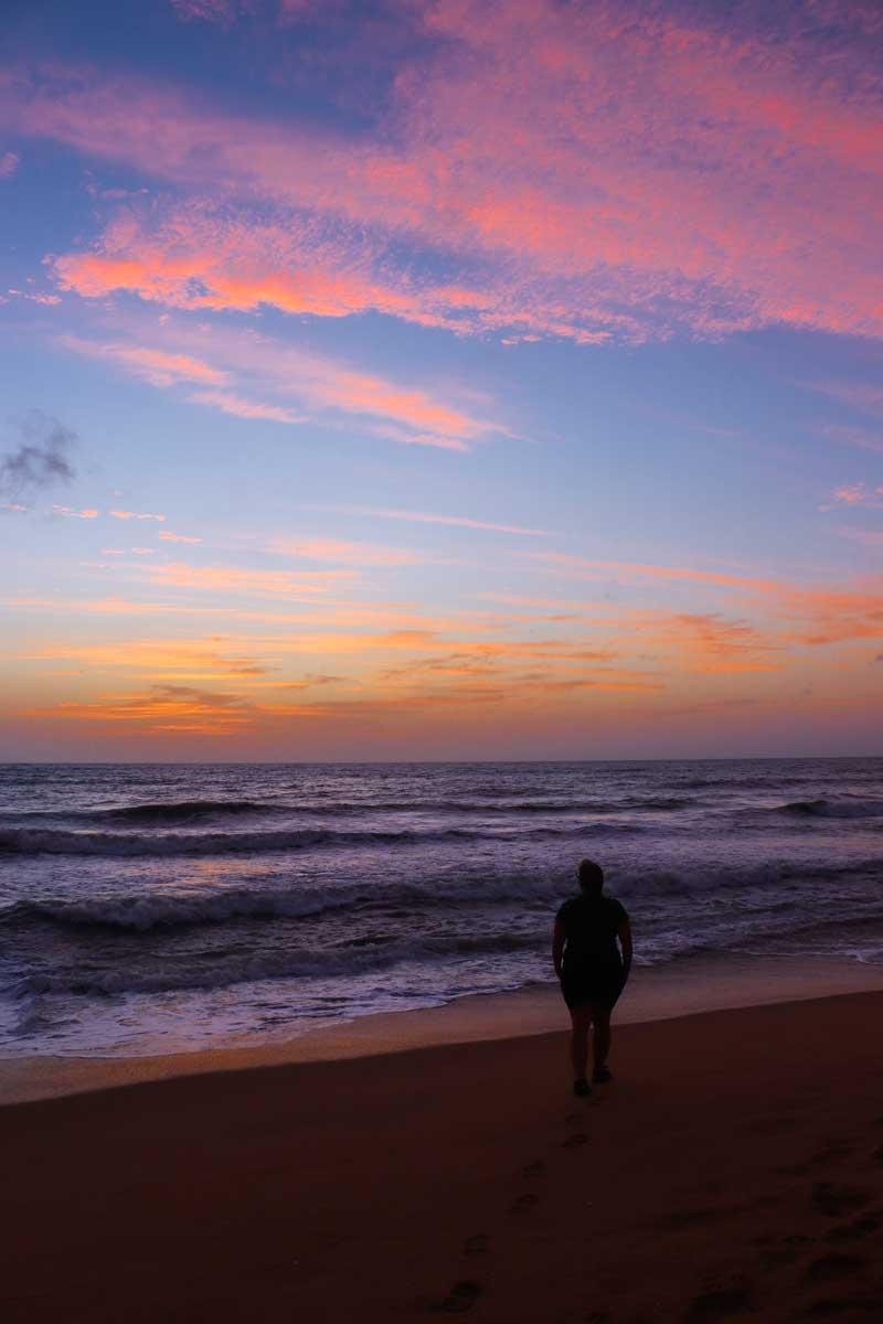 solnedgang i Negombo