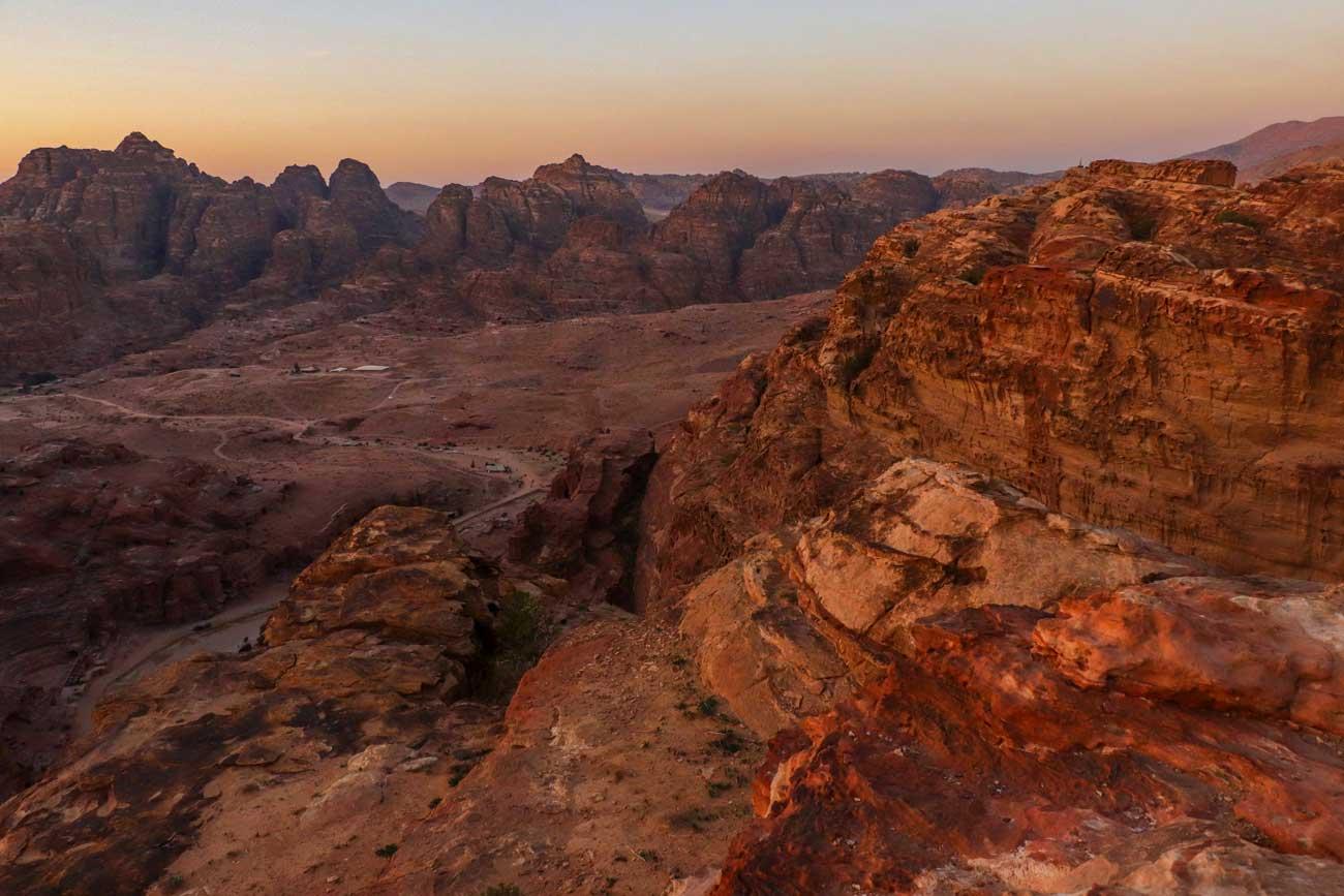 Solnedgang i Petra