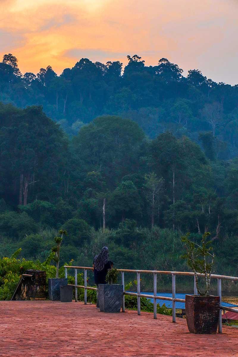 solnedgang i Kuala Tahan, Taman Negara