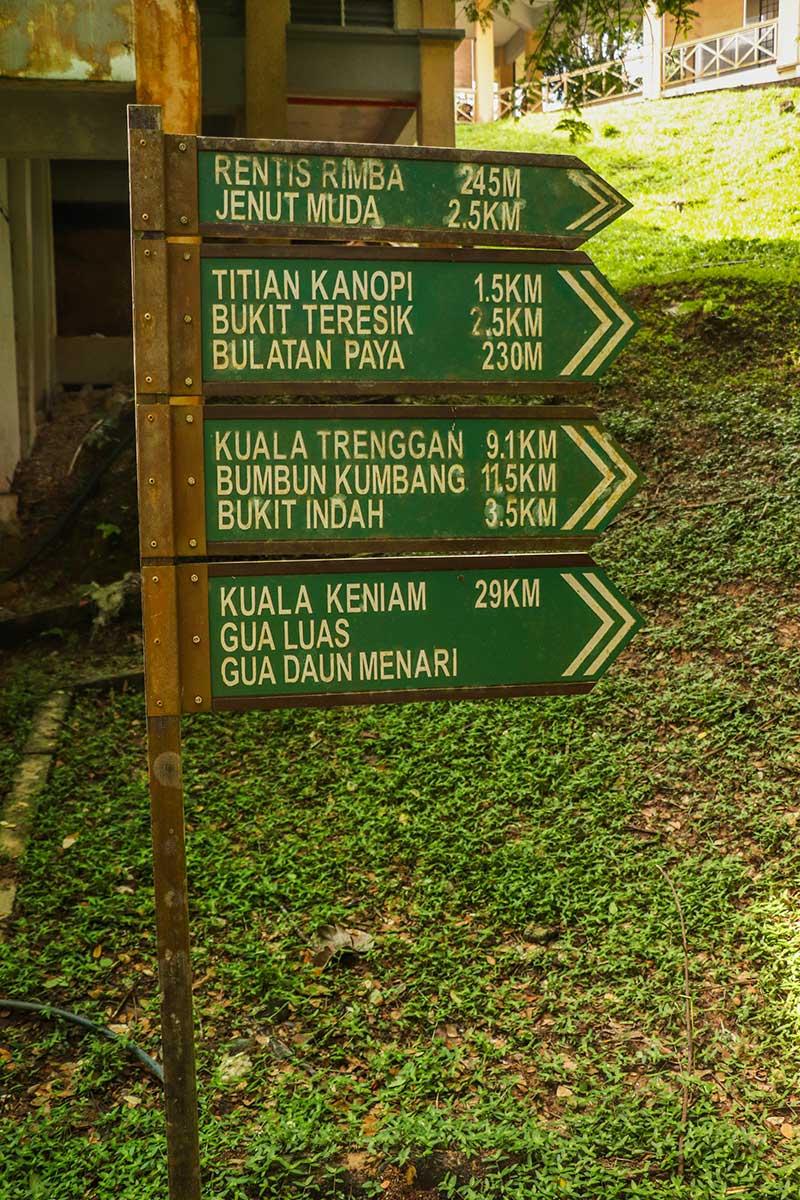 vandrestier i Taman Negara Malaysia