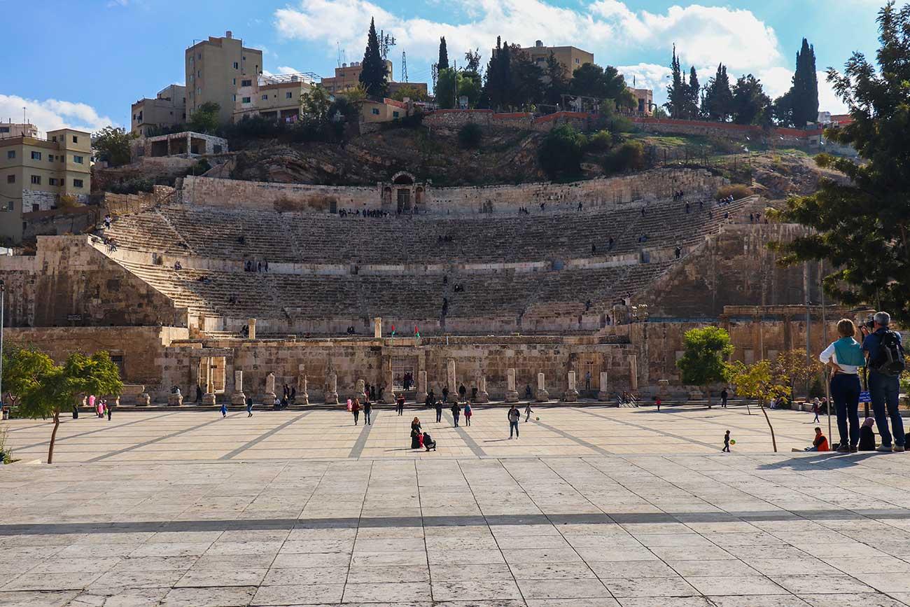 det romerske teater i Amman