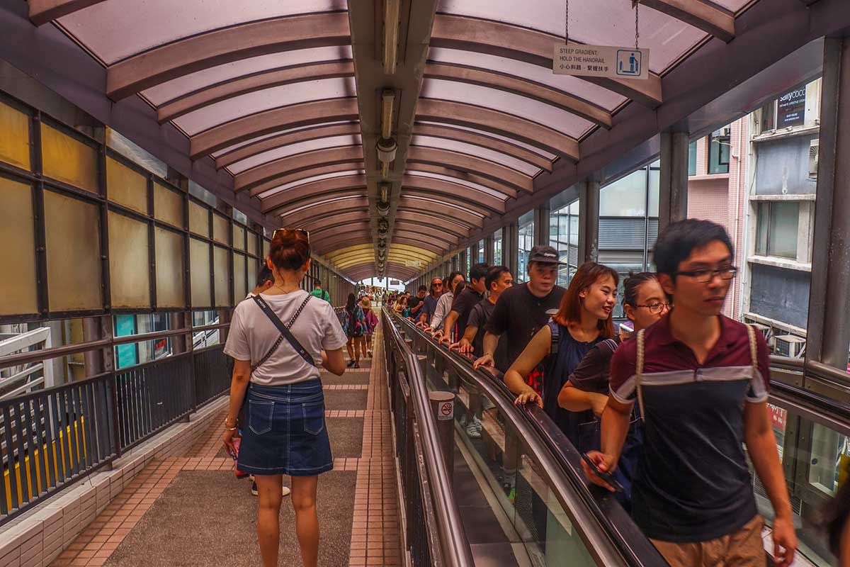 Mid-Level escalators - verdens længeste udendørs rulletrappe