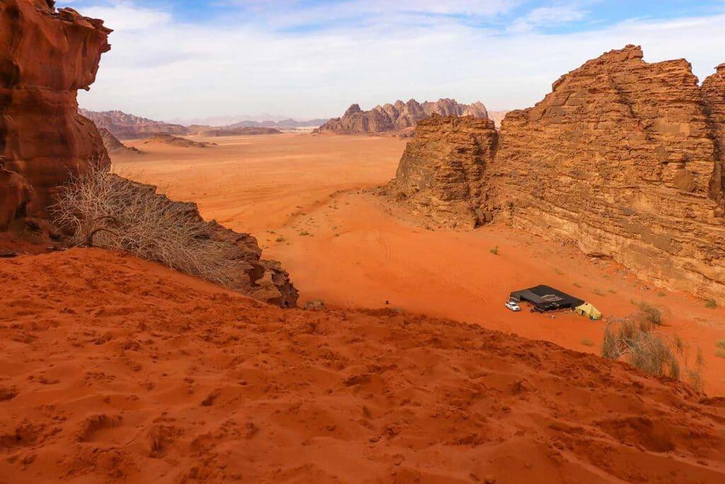 udsigtspunkt i Wadi rum