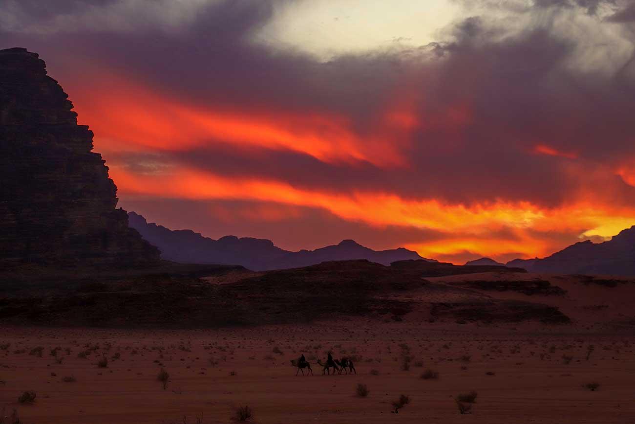solnedgang i wadi rum