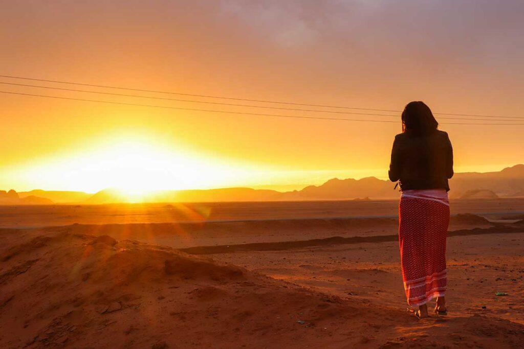 solopgang i wadi rum