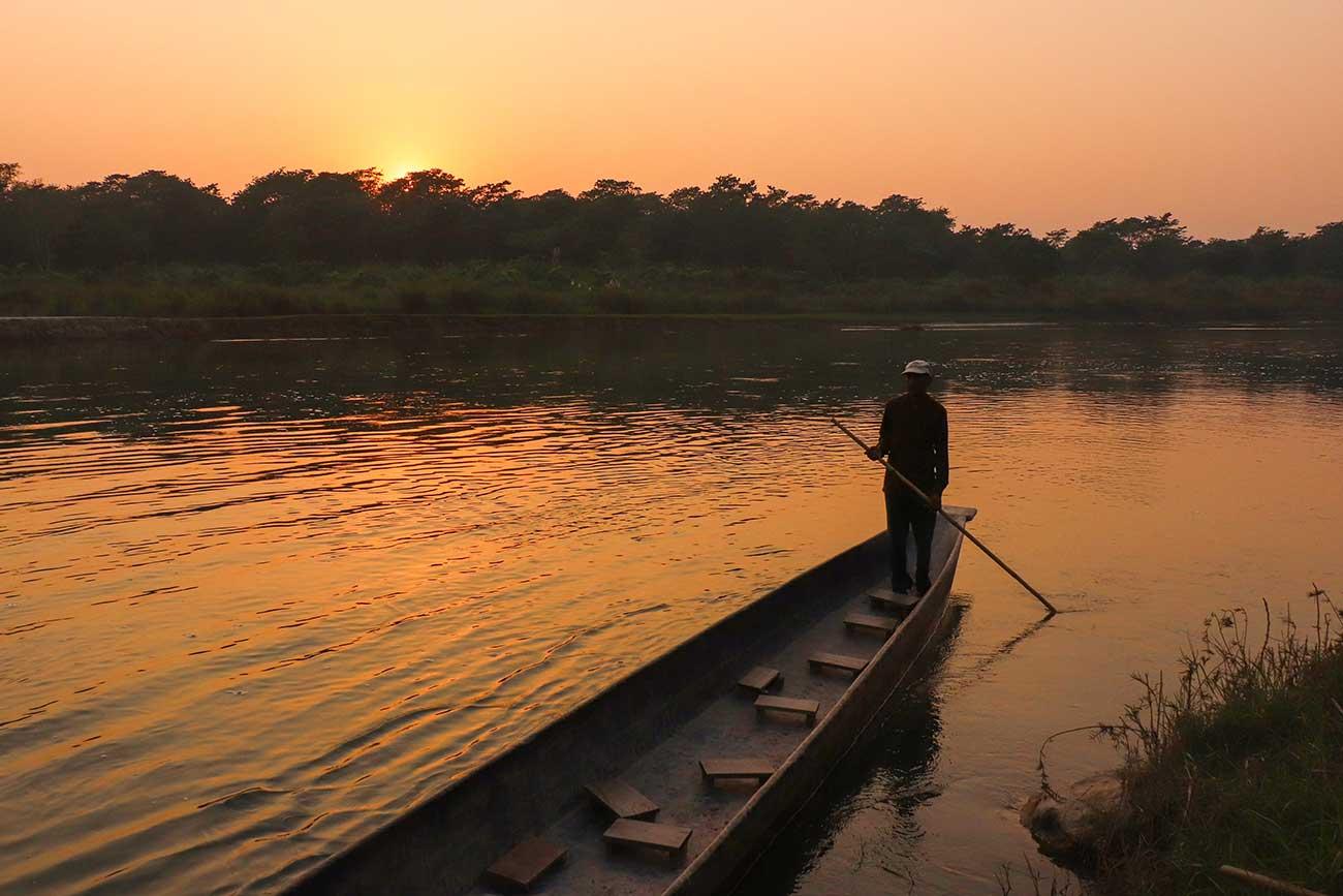 bådtur i Nepal