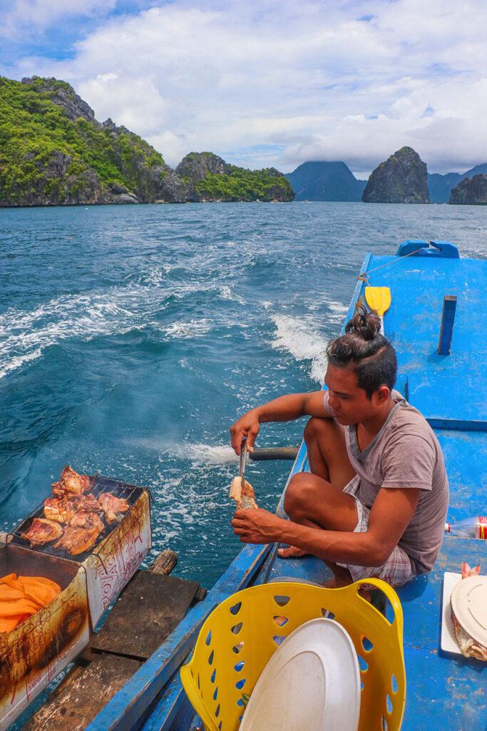 bådtur på filippinerne